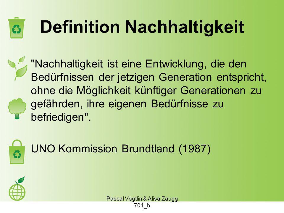 Definition Nachhaltigkeit
