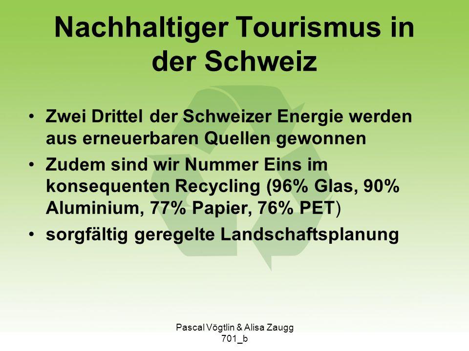 Nachhaltiger Tourismus in der Schweiz