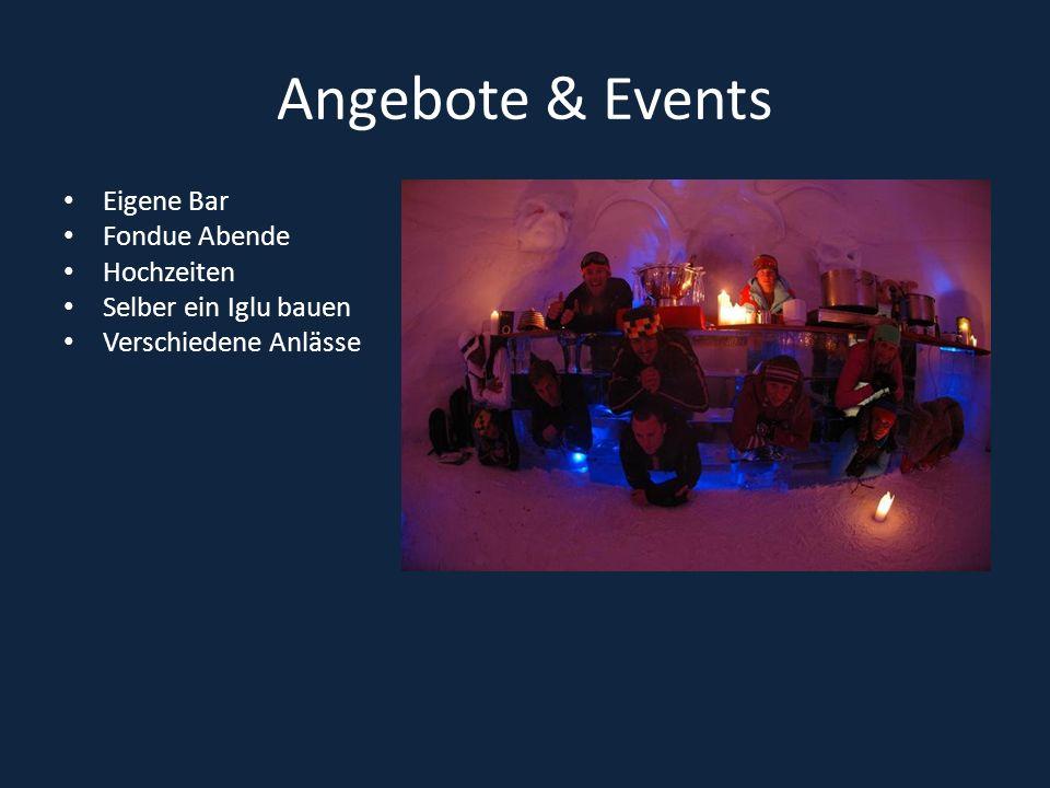 Angebote & Events Eigene Bar Fondue Abende Hochzeiten