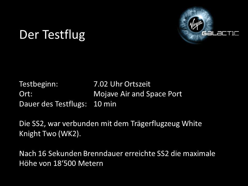 Der Testflug Testbeginn:. 7. 02 Uhr Ortszeit Ort: