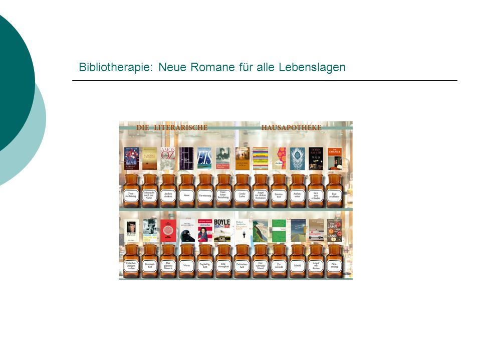 Bibliotherapie: Neue Romane für alle Lebenslagen