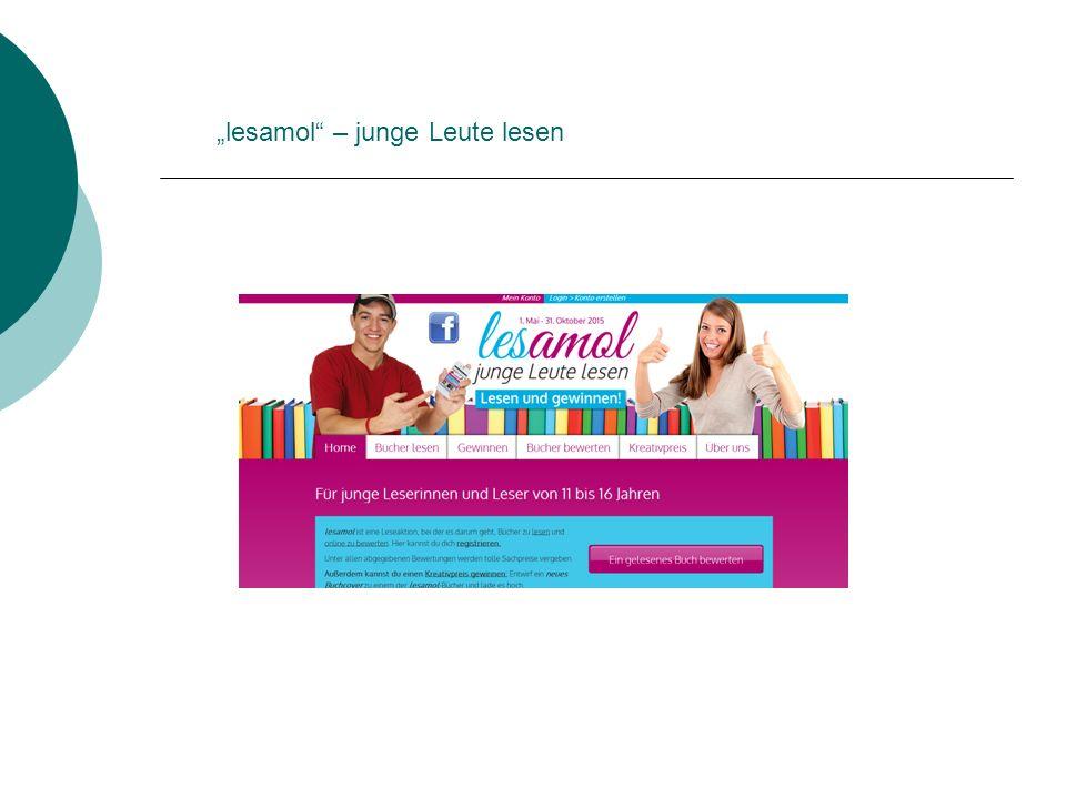 """""""lesamol – junge Leute lesen"""
