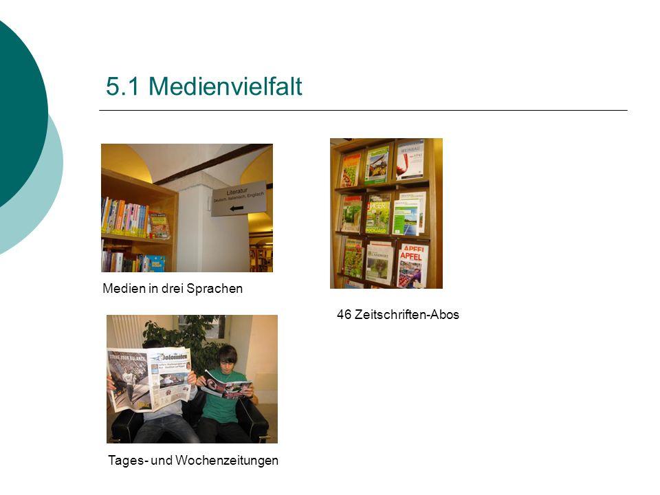 5.1 Medienvielfalt Medien in drei Sprachen 46 Zeitschriften-Abos