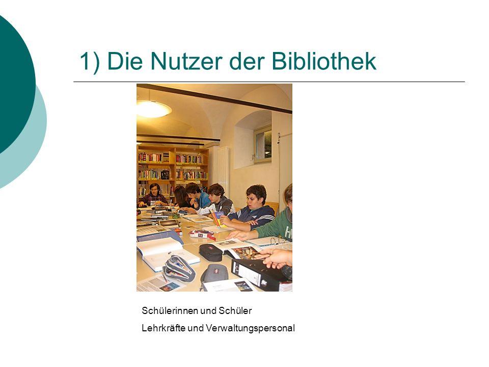 1) Die Nutzer der Bibliothek