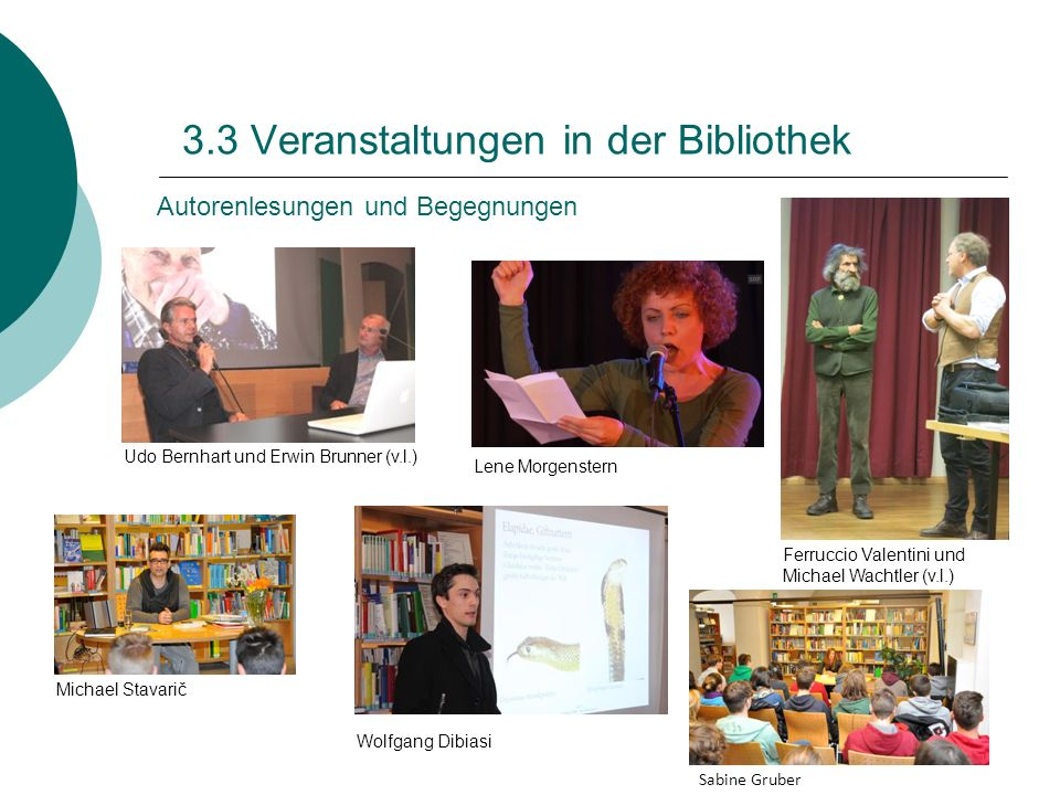 3.3 Veranstaltungen in der Bibliothek