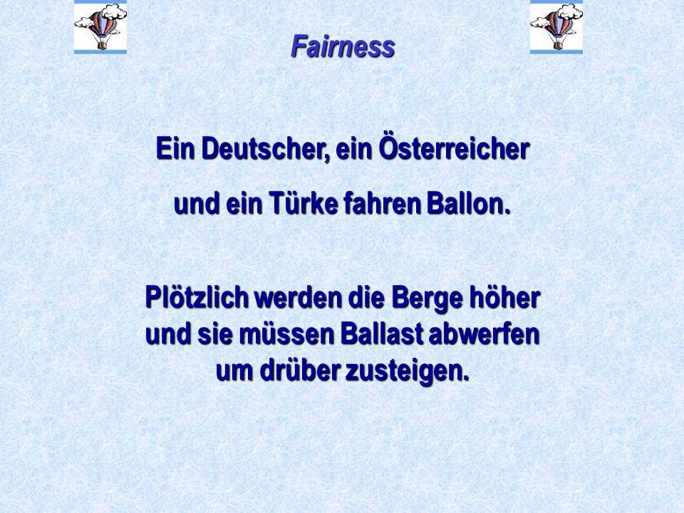 Ein Deutscher, ein Österreicher und ein Türke fahren Ballon.