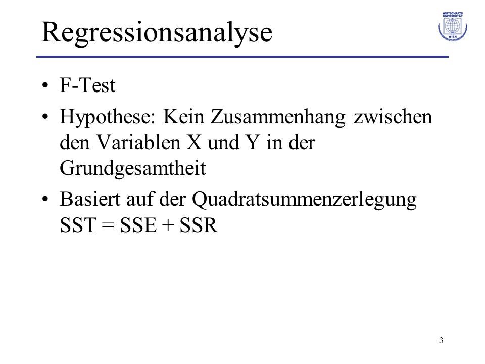 Regressionsanalyse F-Test
