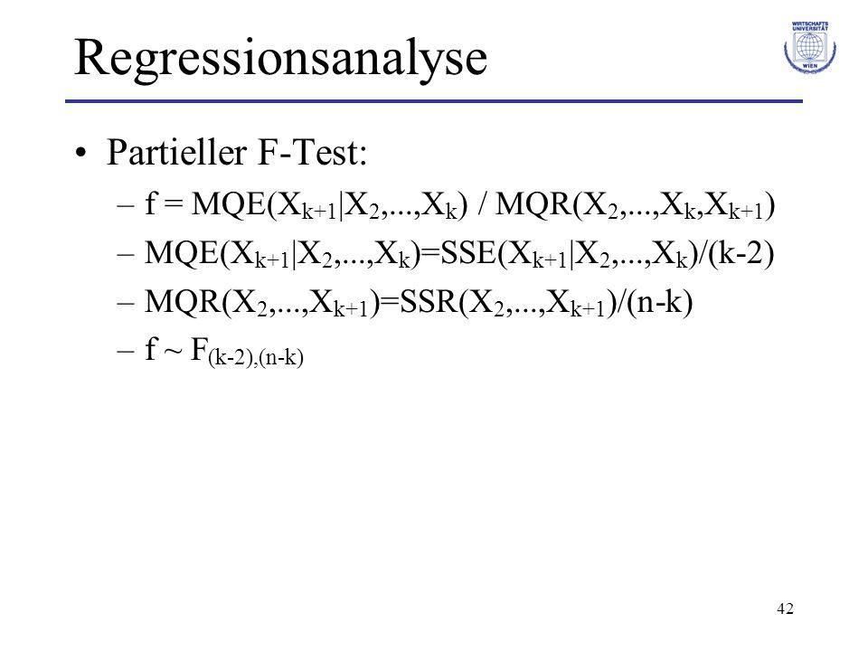 Regressionsanalyse Partieller F-Test: