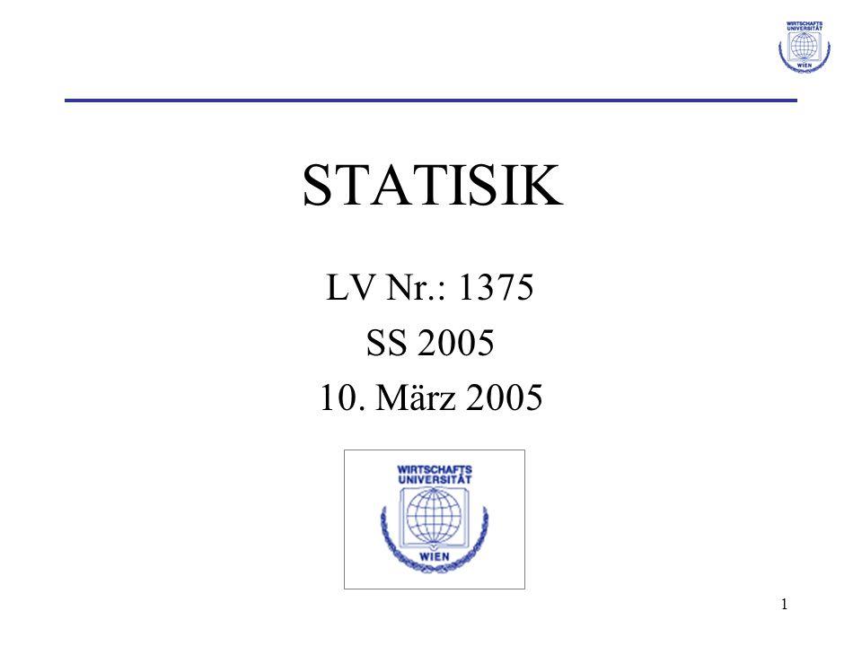 STATISIK LV Nr.: 1375 SS 2005 10. März 2005