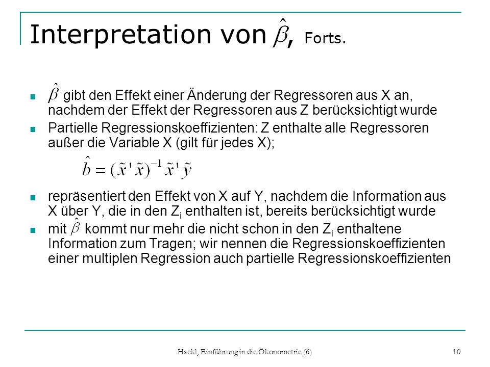 Interpretation von , Forts.