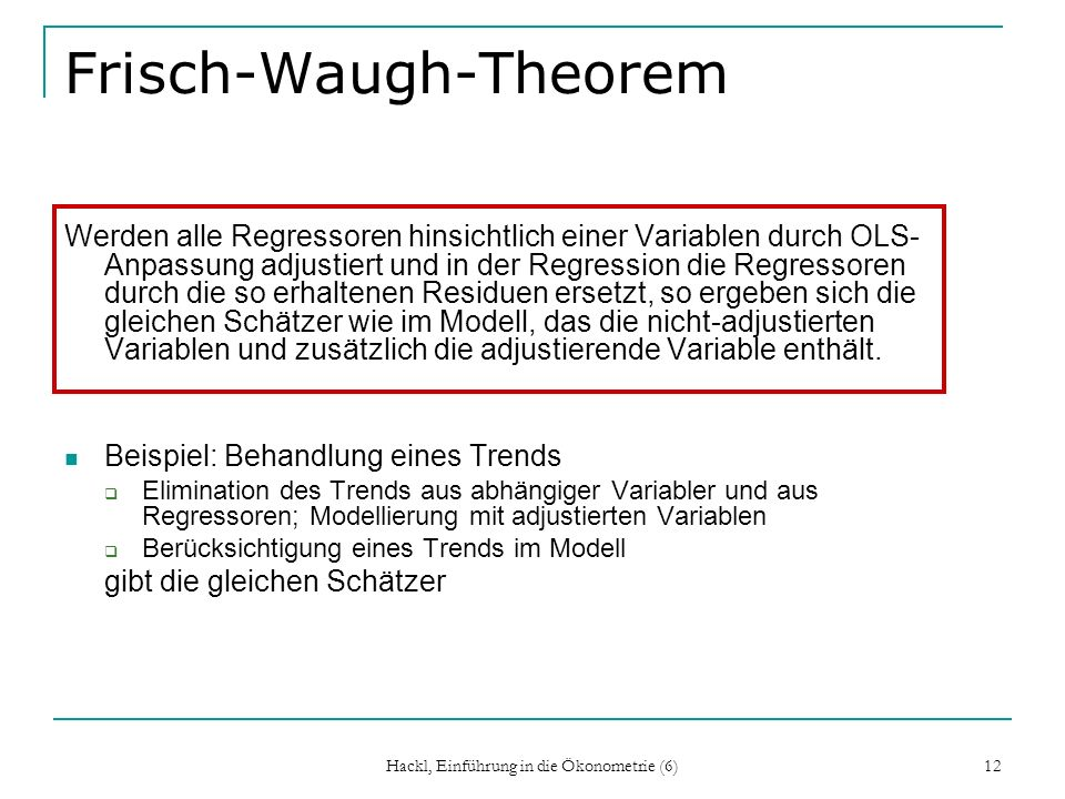 Frisch-Waugh-Theorem
