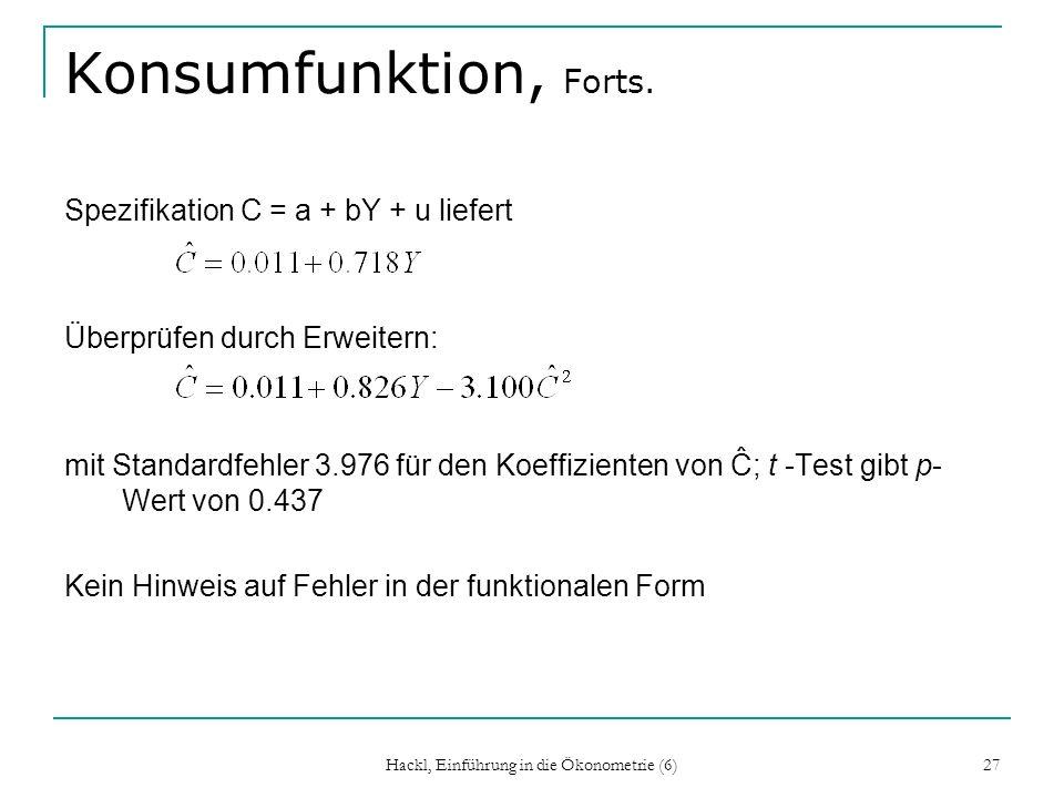 Hackl, Einführung in die Ökonometrie (6)