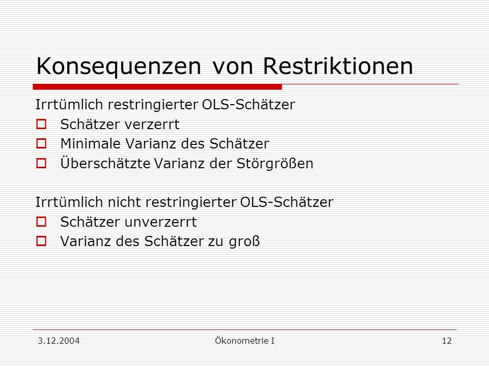 Konsequenzen von Restriktionen