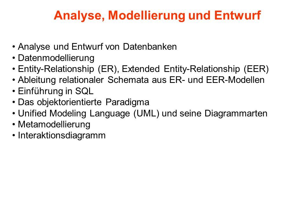 Analyse, Modellierung und Entwurf