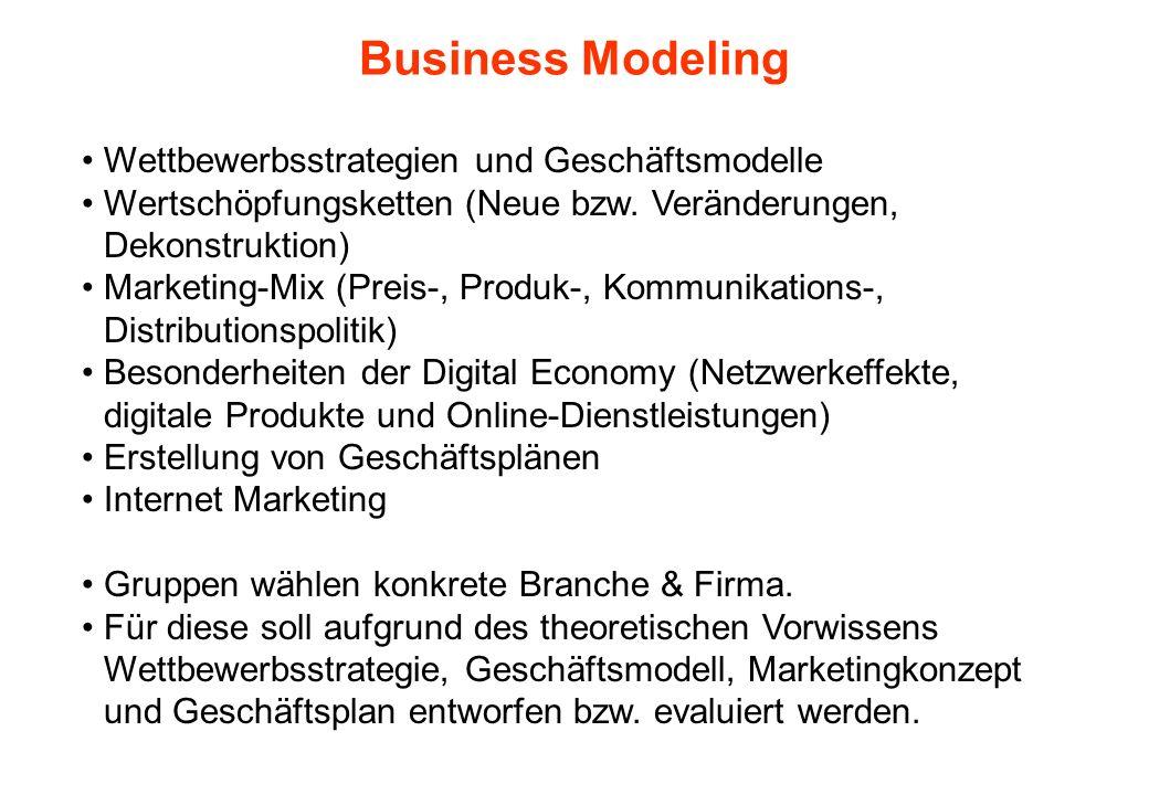 Business Modeling Wettbewerbsstrategien und Geschäftsmodelle