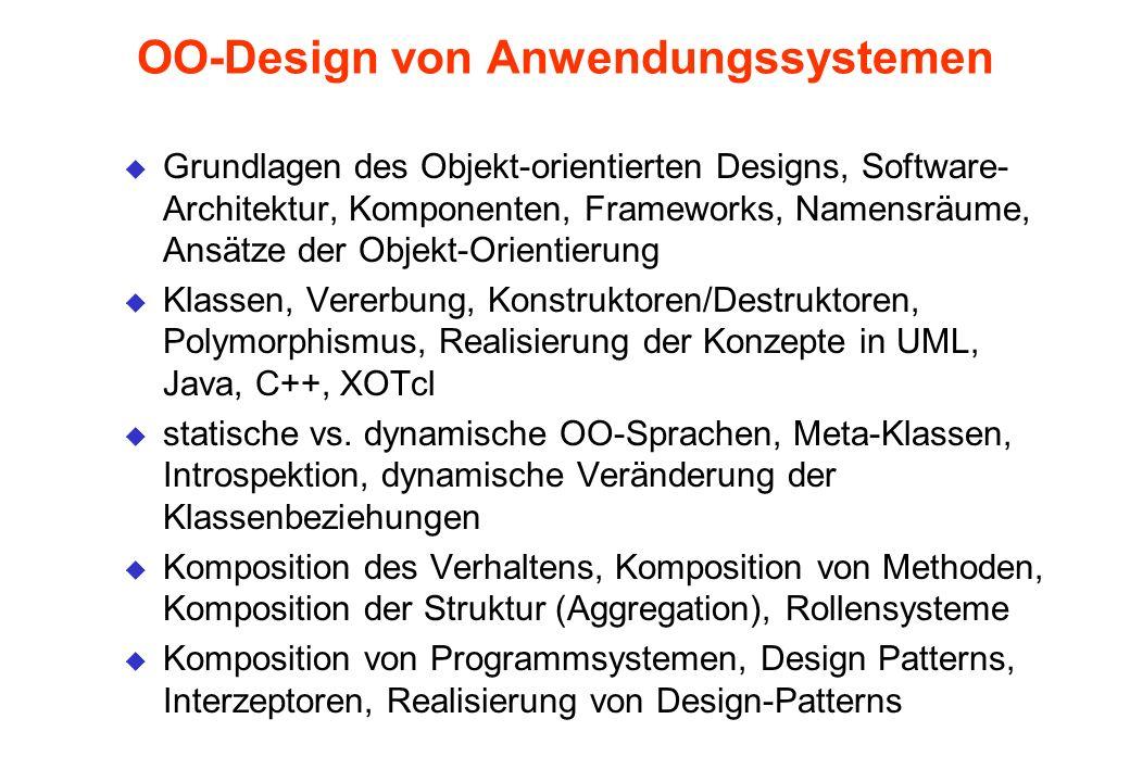 OO-Design von Anwendungssystemen
