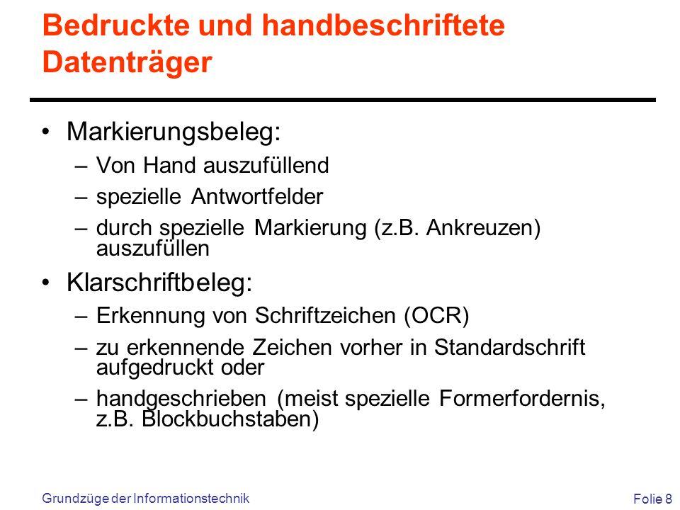 Bedruckte und handbeschriftete Datenträger