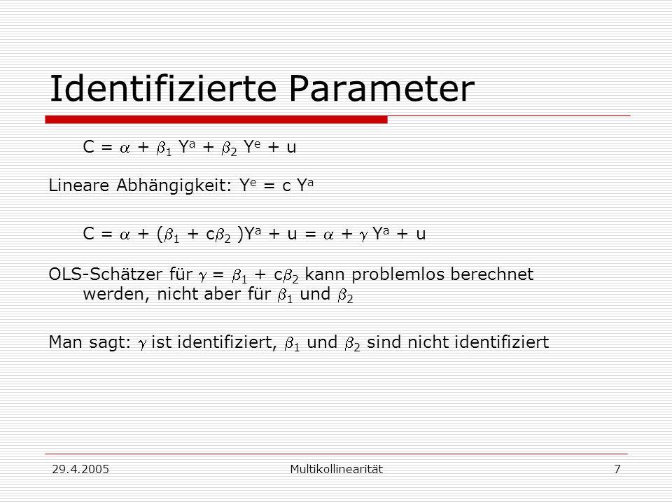 Identifizierte Parameter