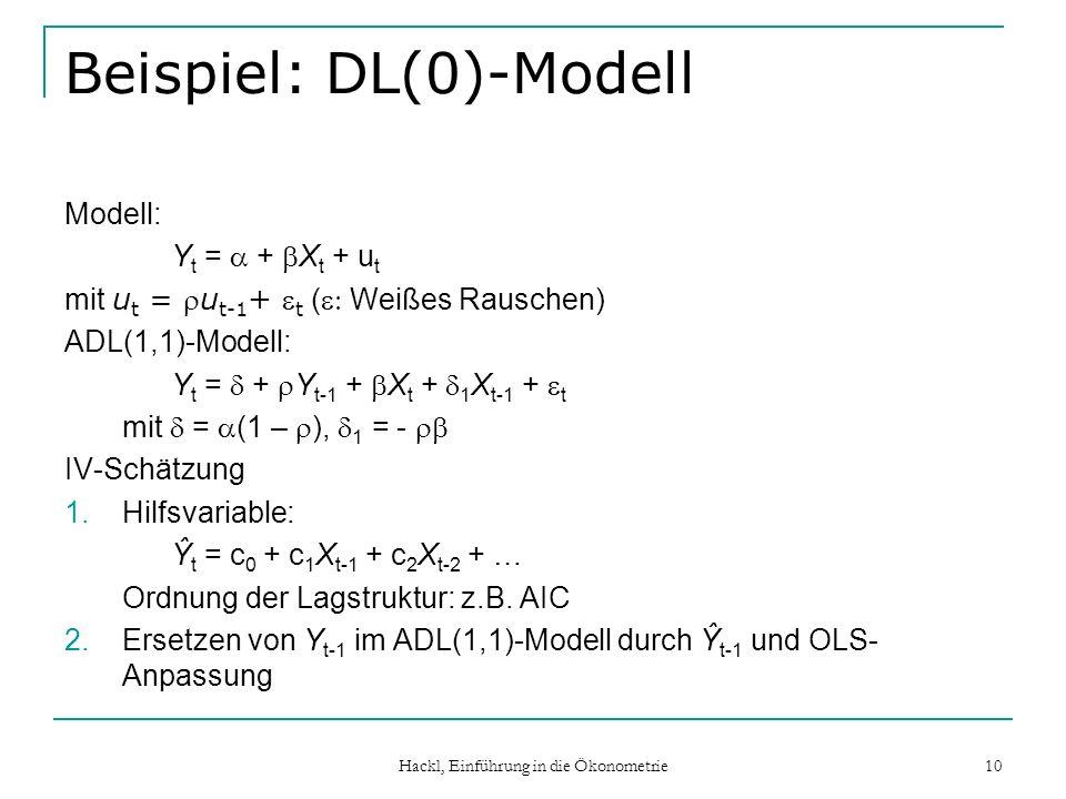 Beispiel: DL(0)-Modell