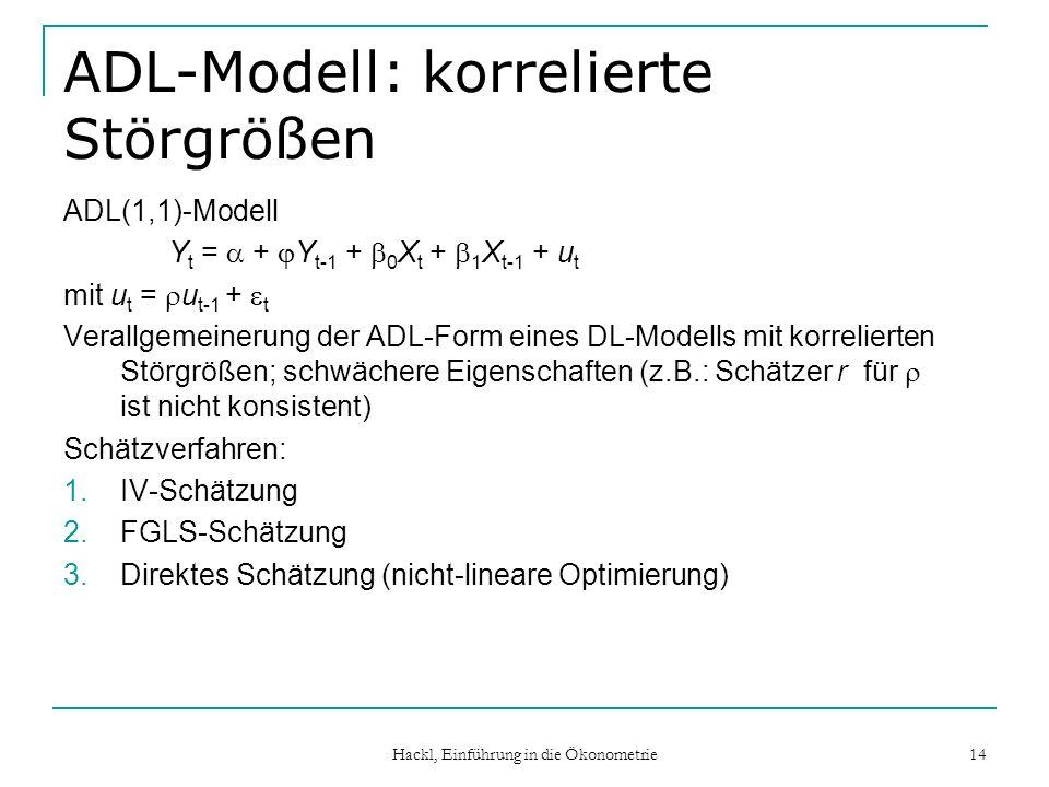 ADL-Modell: korrelierte Störgrößen