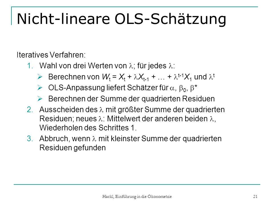 Nicht-lineare OLS-Schätzung