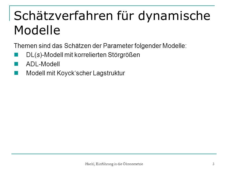 Schätzverfahren für dynamische Modelle