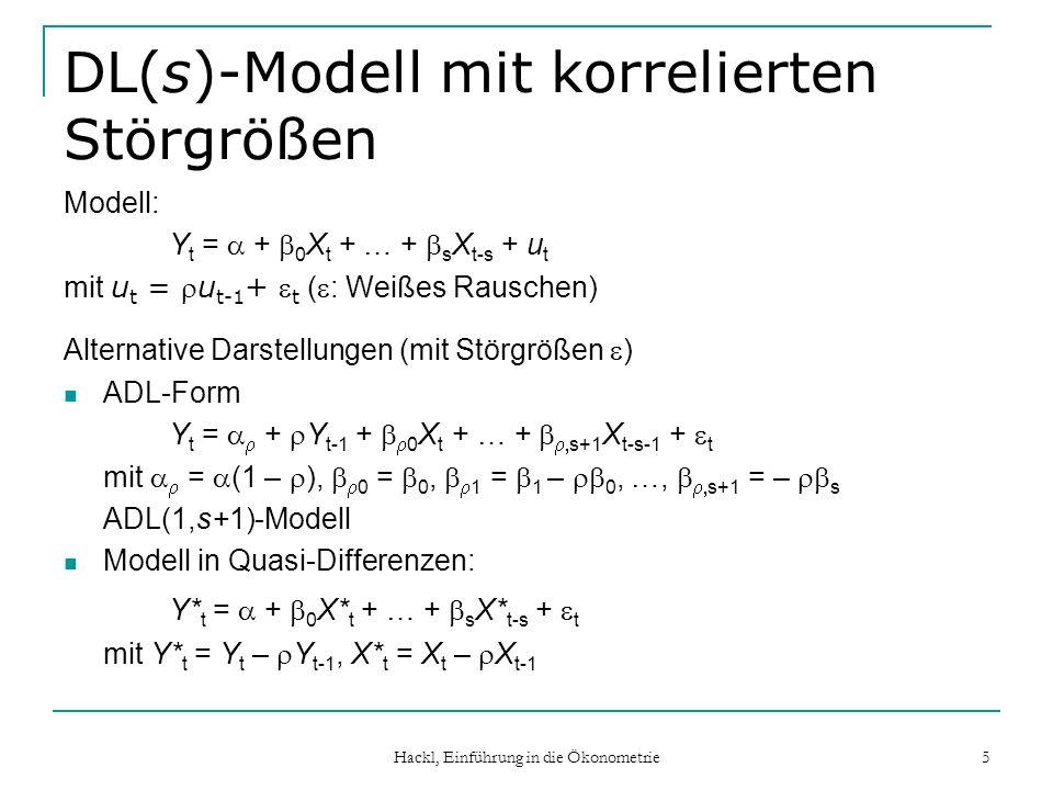 DL(s)-Modell mit korrelierten Störgrößen