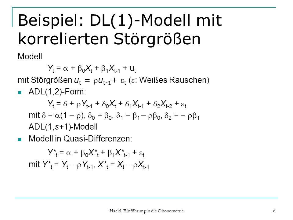 Beispiel: DL(1)-Modell mit korrelierten Störgrößen