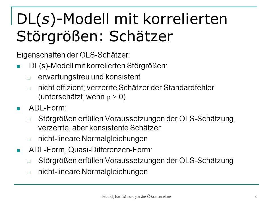 DL(s)-Modell mit korrelierten Störgrößen: Schätzer
