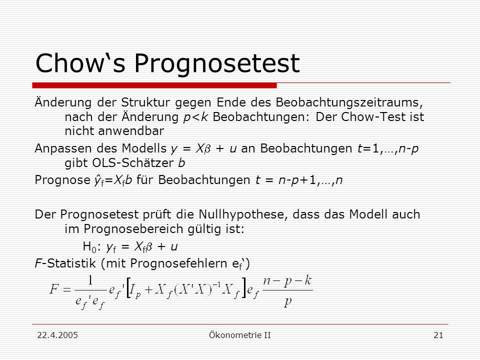 Chow's Prognosetest
