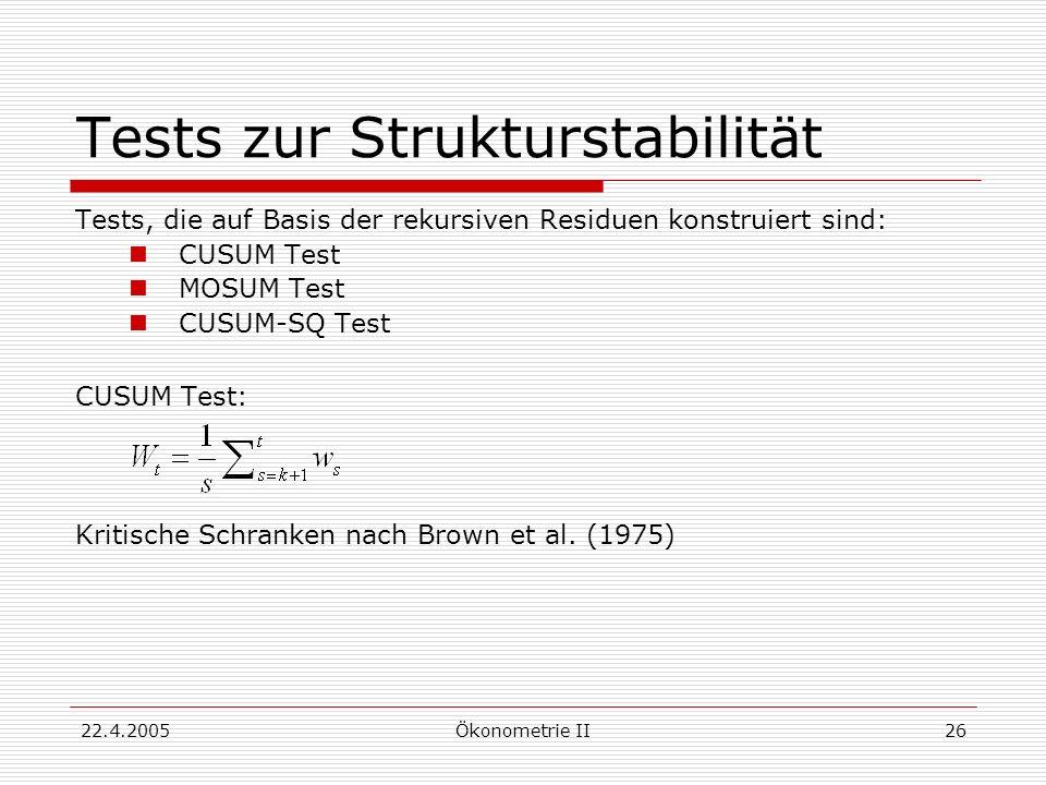 Tests zur Strukturstabilität