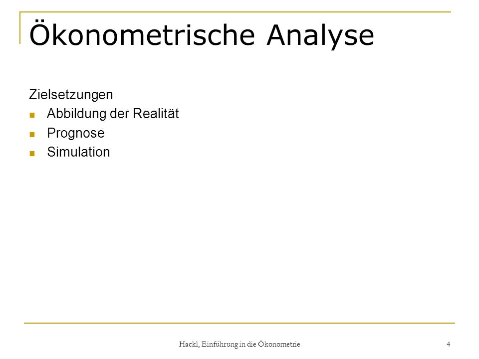 Ökonometrische Analyse