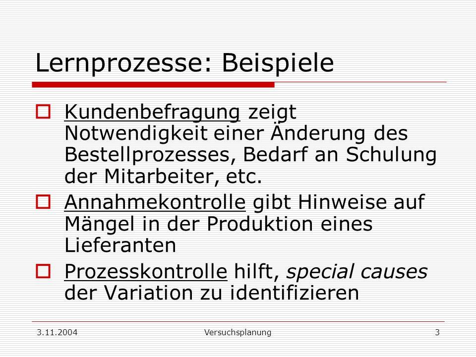Lernprozesse: Beispiele