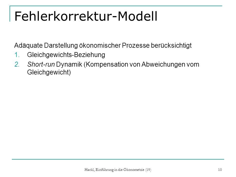 Fehlerkorrektur-Modell