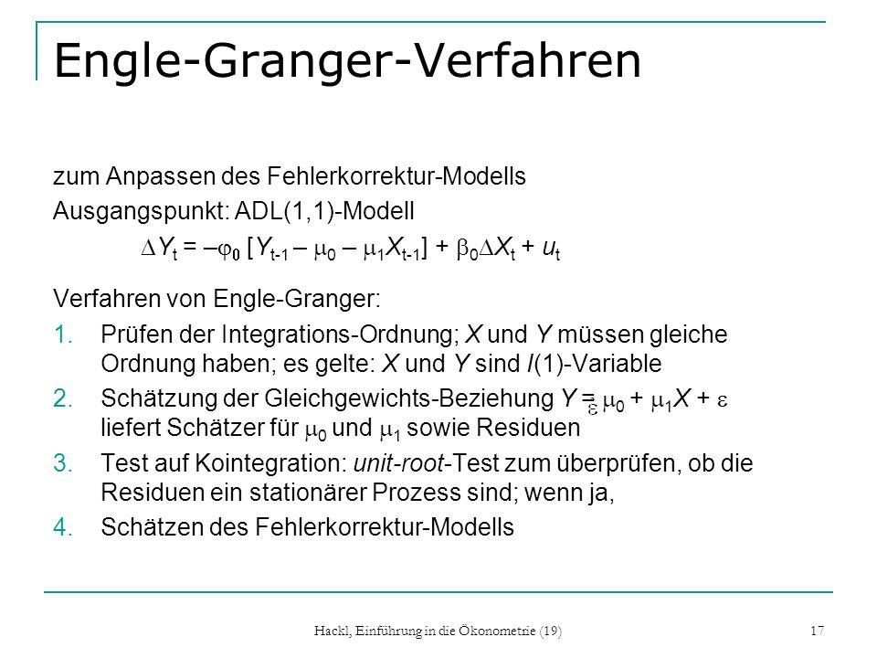 Engle-Granger-Verfahren