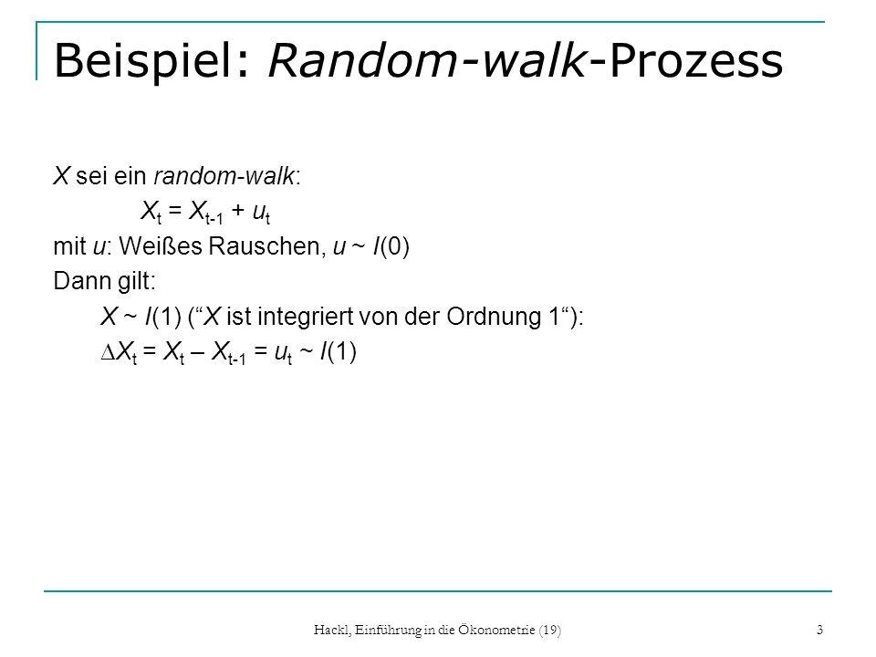 Beispiel: Random-walk-Prozess