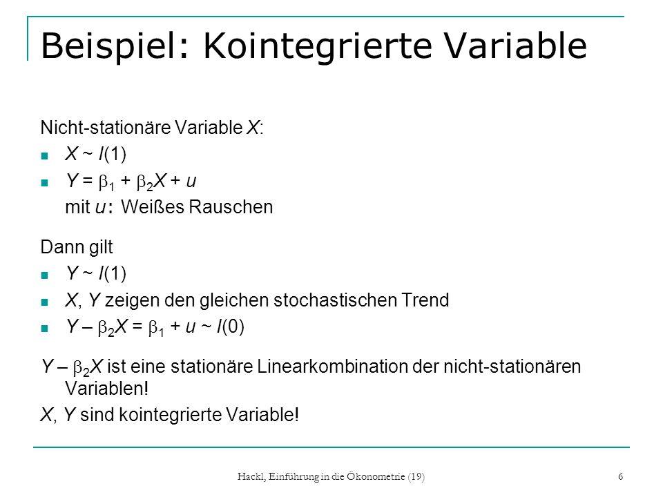 Beispiel: Kointegrierte Variable