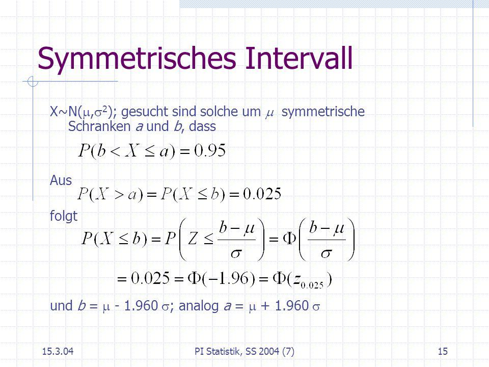 Symmetrisches Intervall