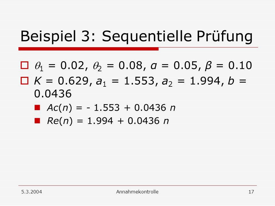 Beispiel 3: Sequentielle Prüfung