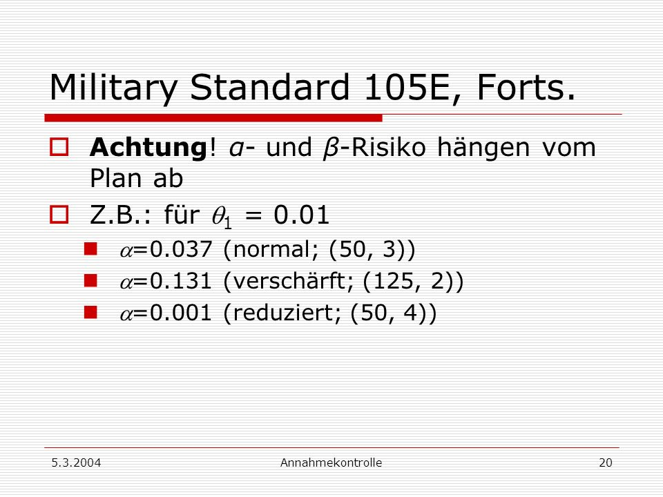 Military Standard 105E, Forts.