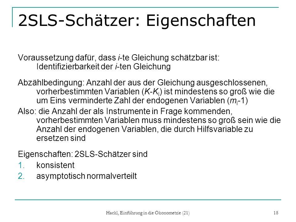 2SLS-Schätzer: Eigenschaften