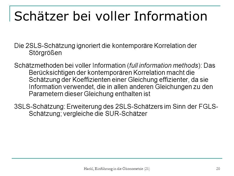 Schätzer bei voller Information