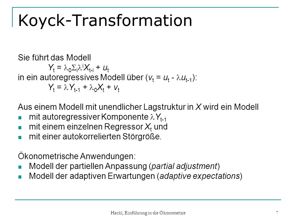 Koyck-Transformation