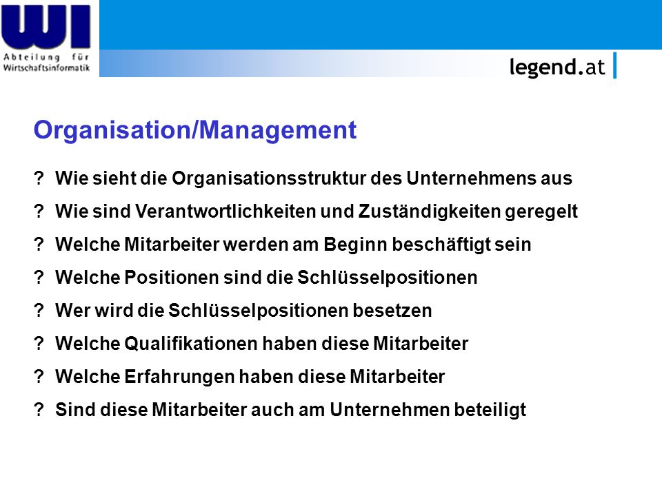 Organisation/Management
