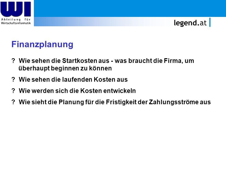 Finanzplanung legend.at