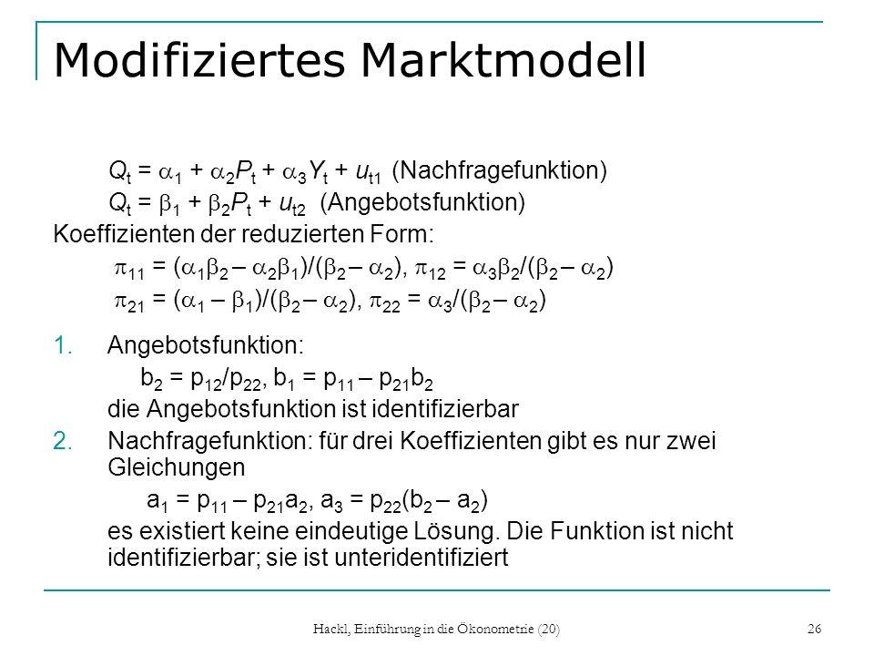Modifiziertes Marktmodell