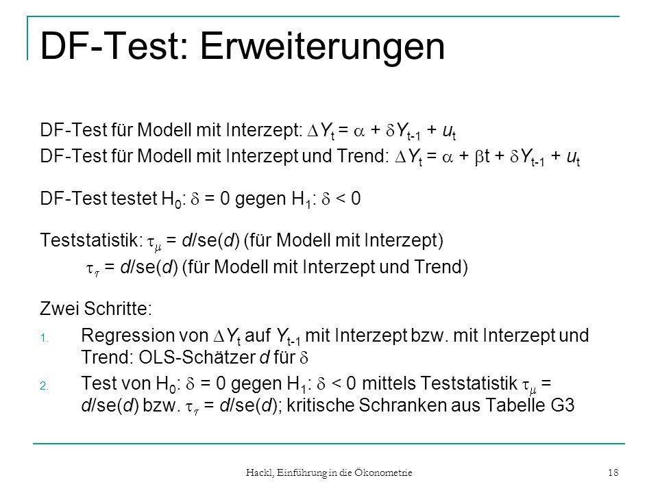 DF-Test: Erweiterungen