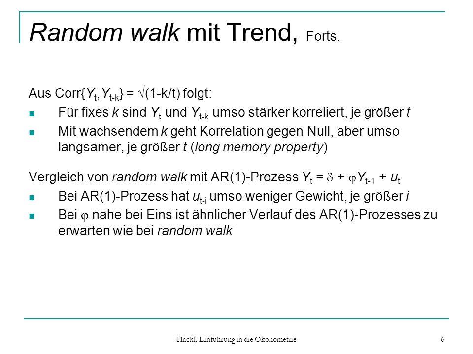 Random walk mit Trend, Forts.