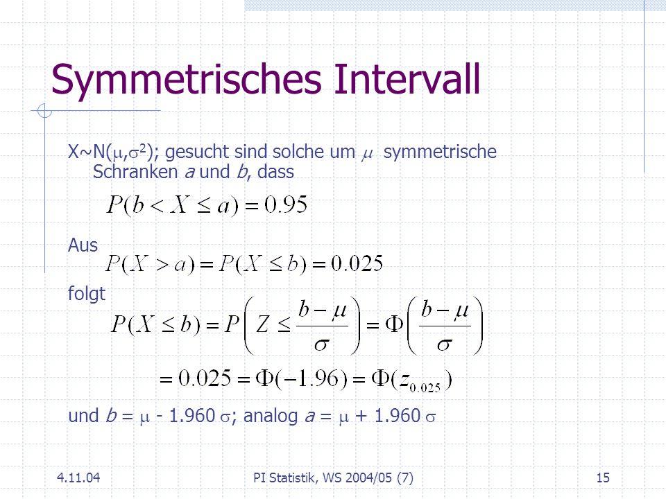 Symmetrisches Intervall