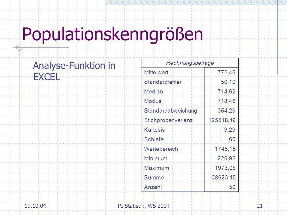 Populationskenngrößen